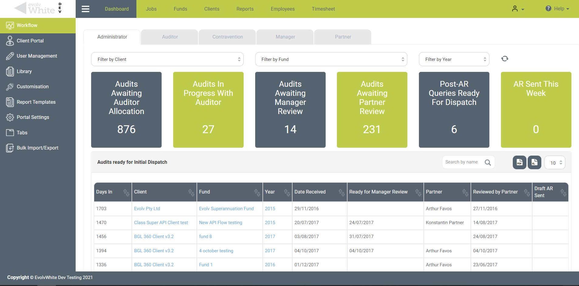 Audit and clients management