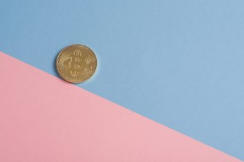 coin on background