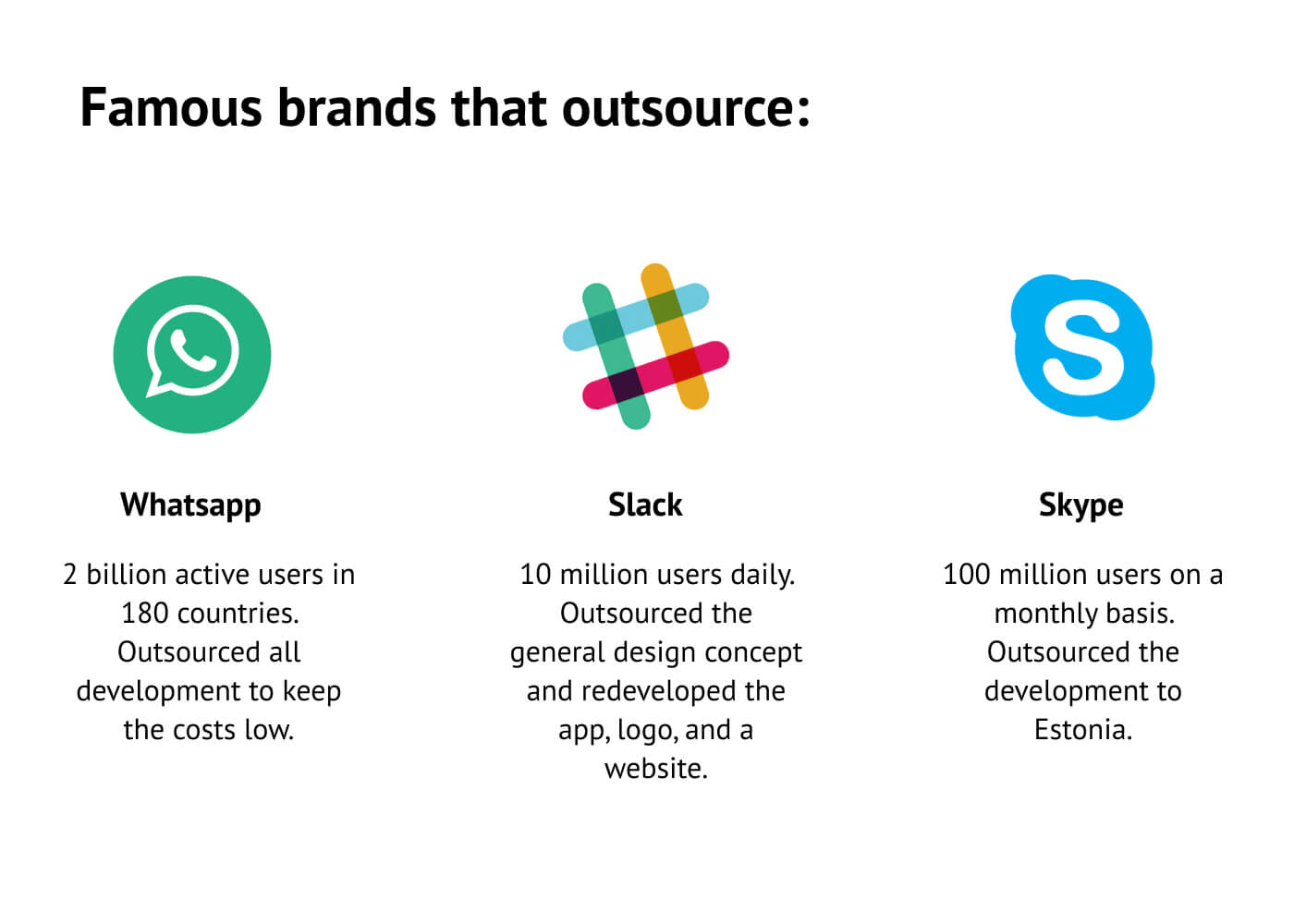 Famous brands that work with dedicated teams.