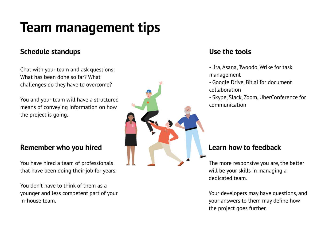 Tips on managing Dedicated Teams.