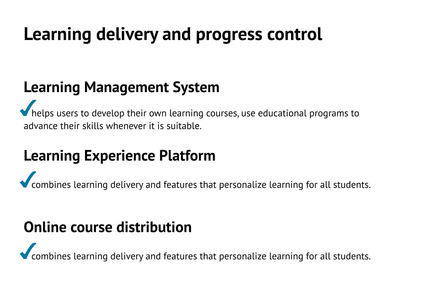 E-learning platforms for delivering education and monitoring progress