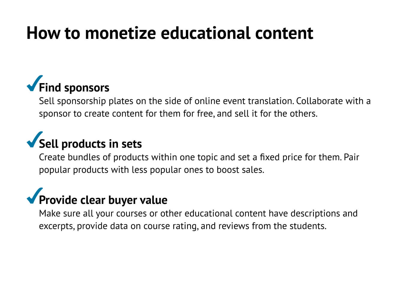 How to monetize educational content