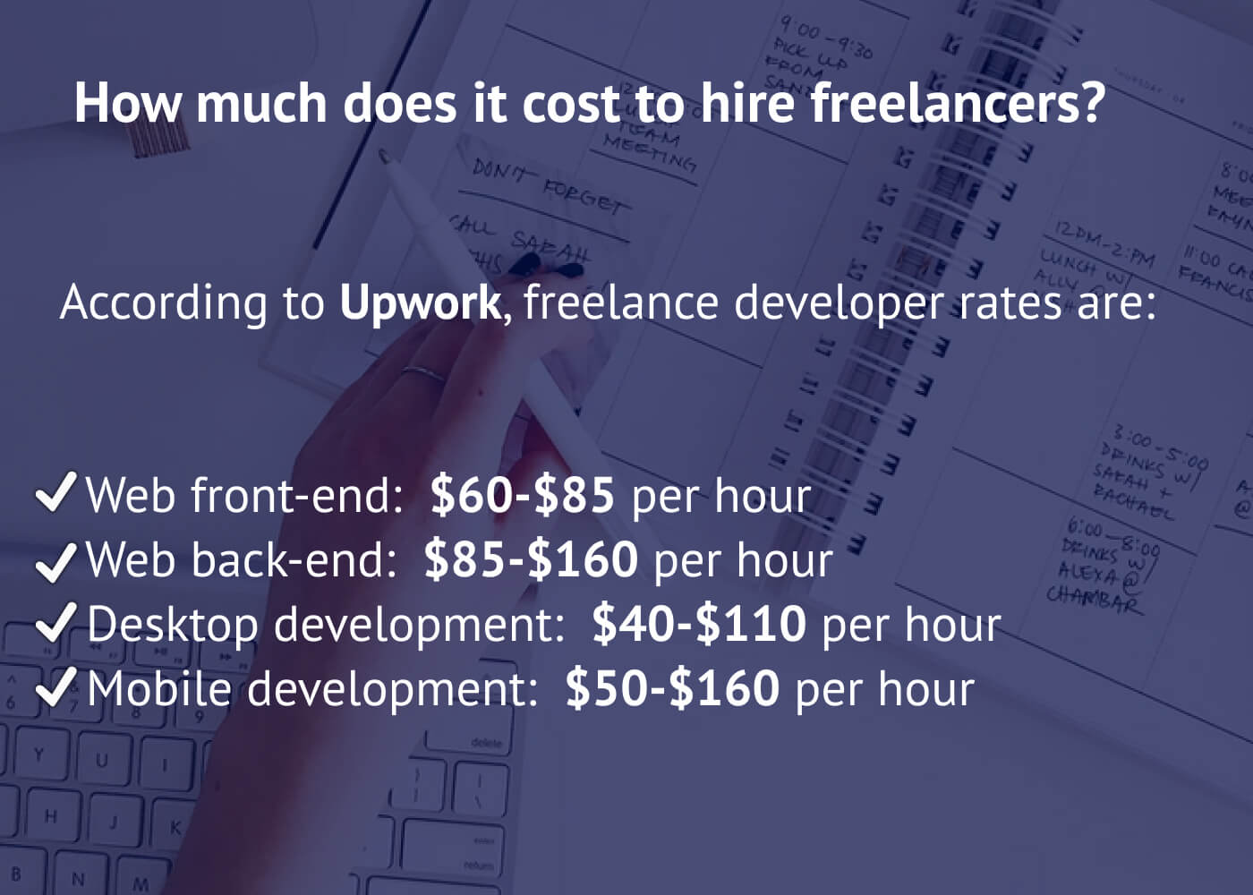 How much does it cost to hire freelancers