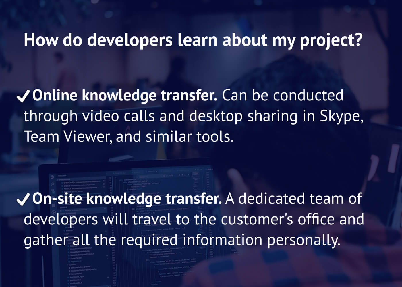 How do developers learn about my project