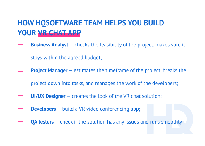 How HQSoftware team helps you build your VR chat app