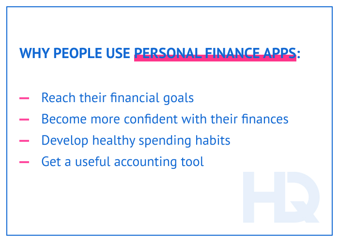 Why people use personal finance apps