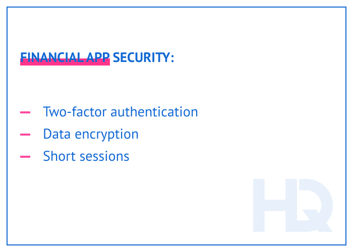 Financial app security