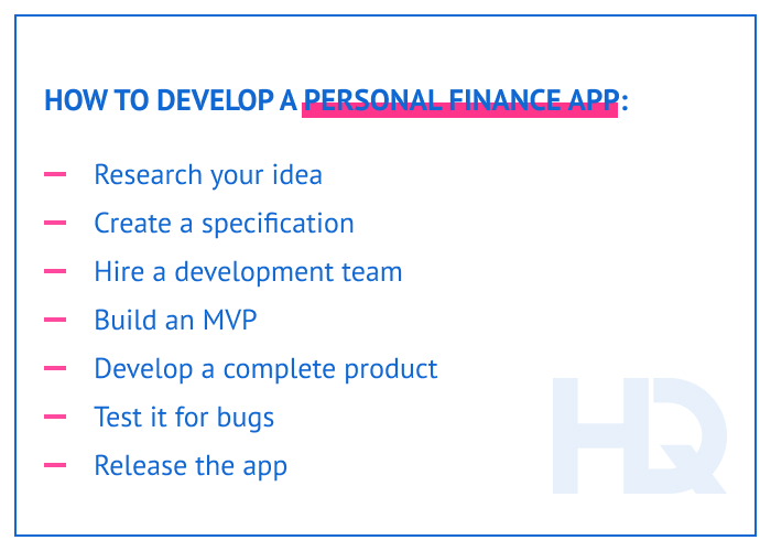How to develop a personal finance app