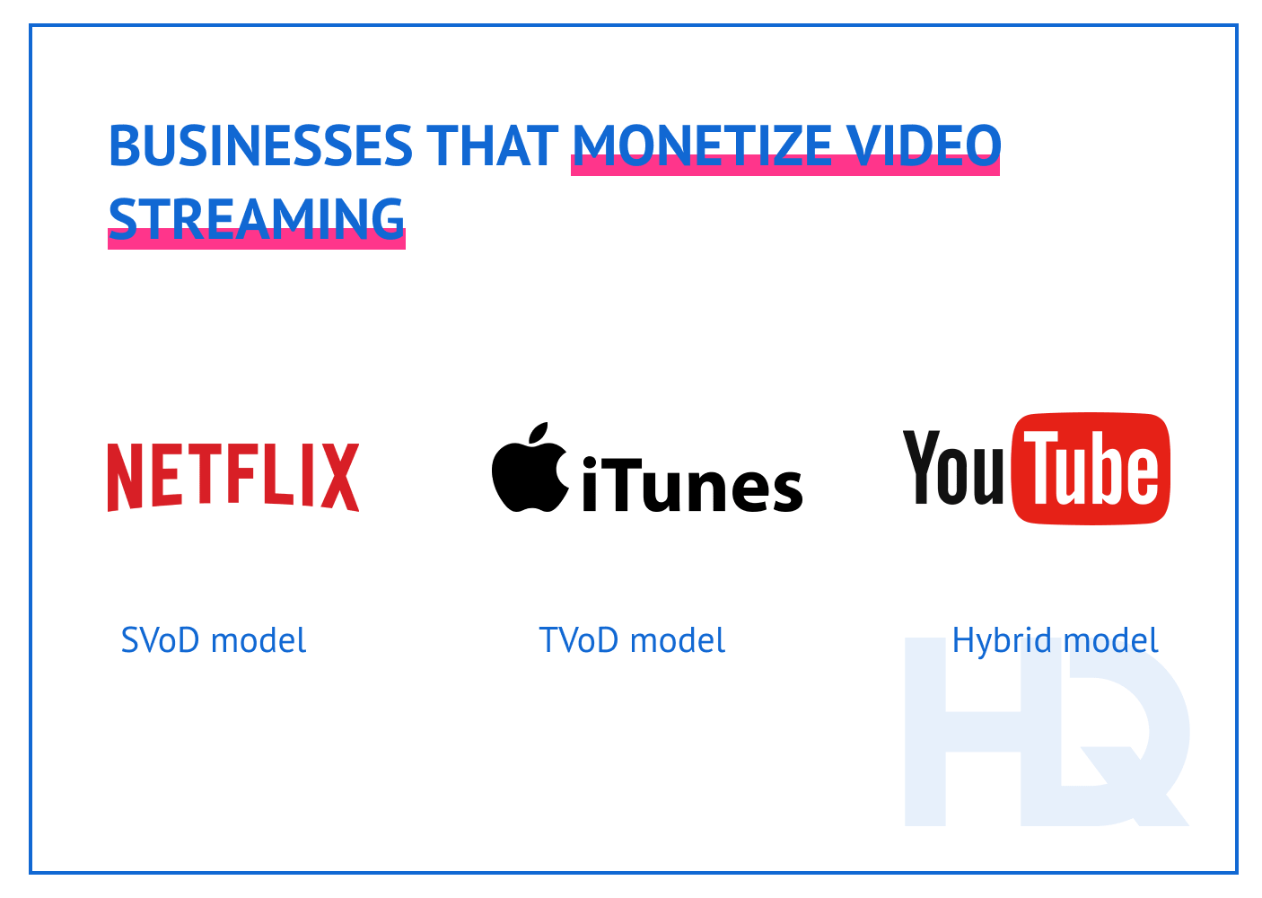 What businesses monetize video streaming?