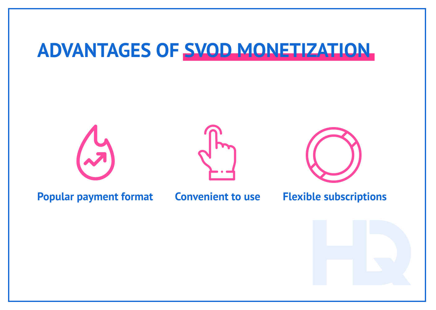 Advantages of SVoD monetization model.