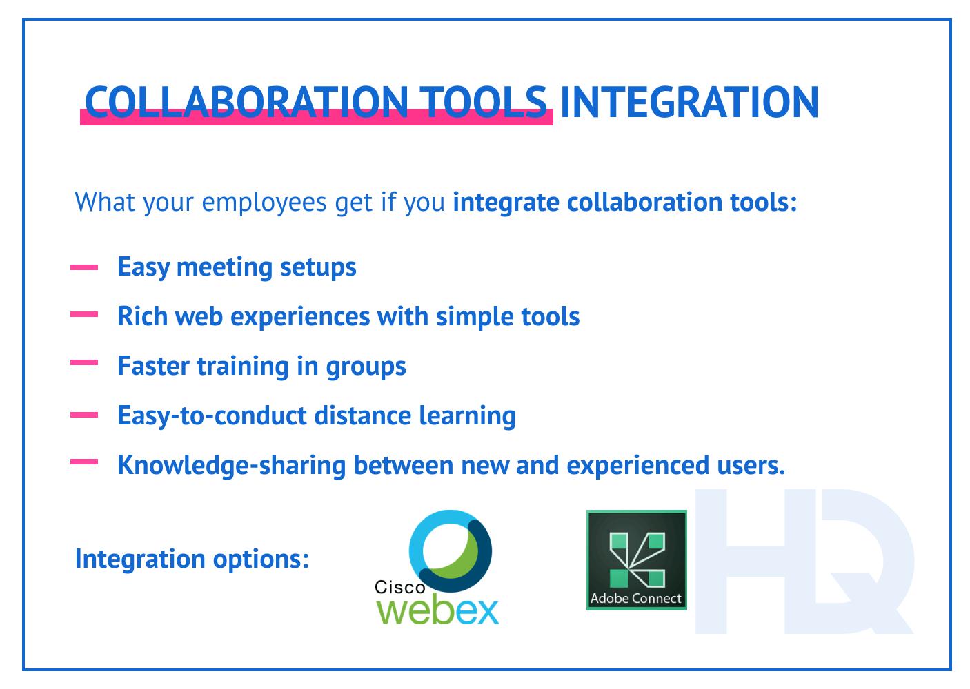 Collaboration tools integration