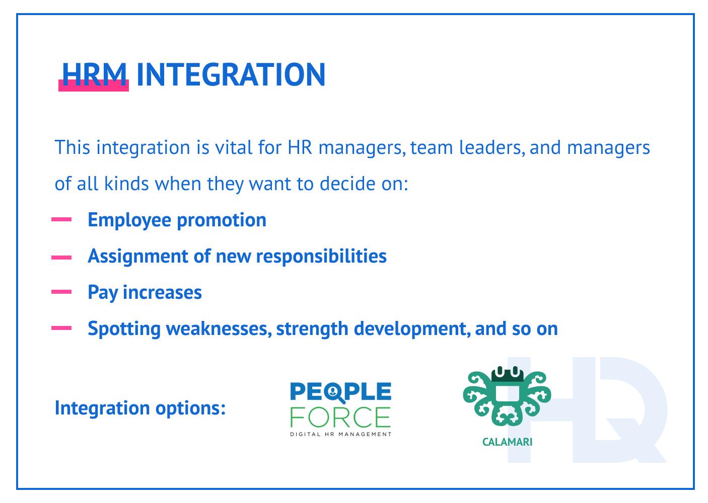 HRM integration