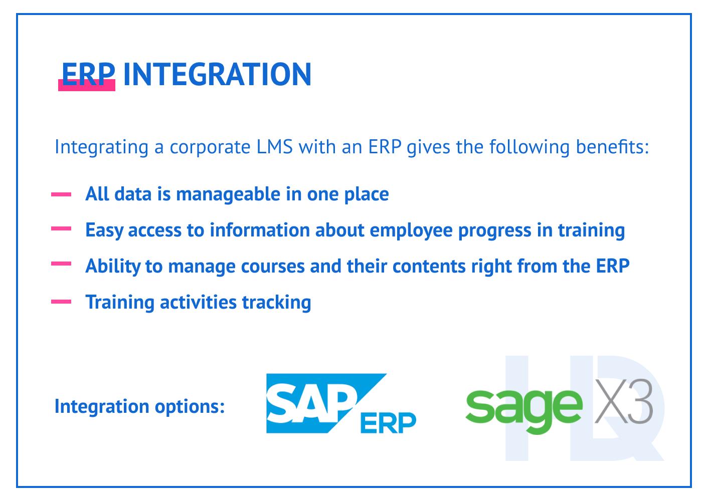 ERP integration.
