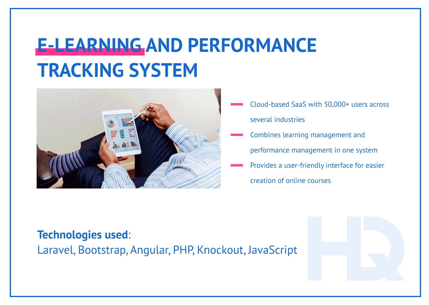 Case study: LMS and performance tracking system