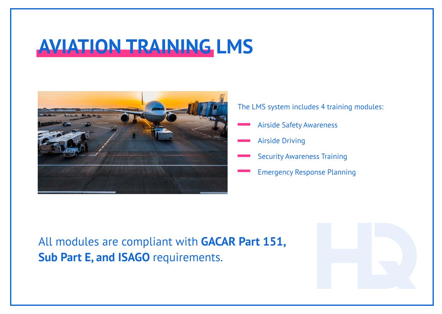 Case study: aviation training LMS