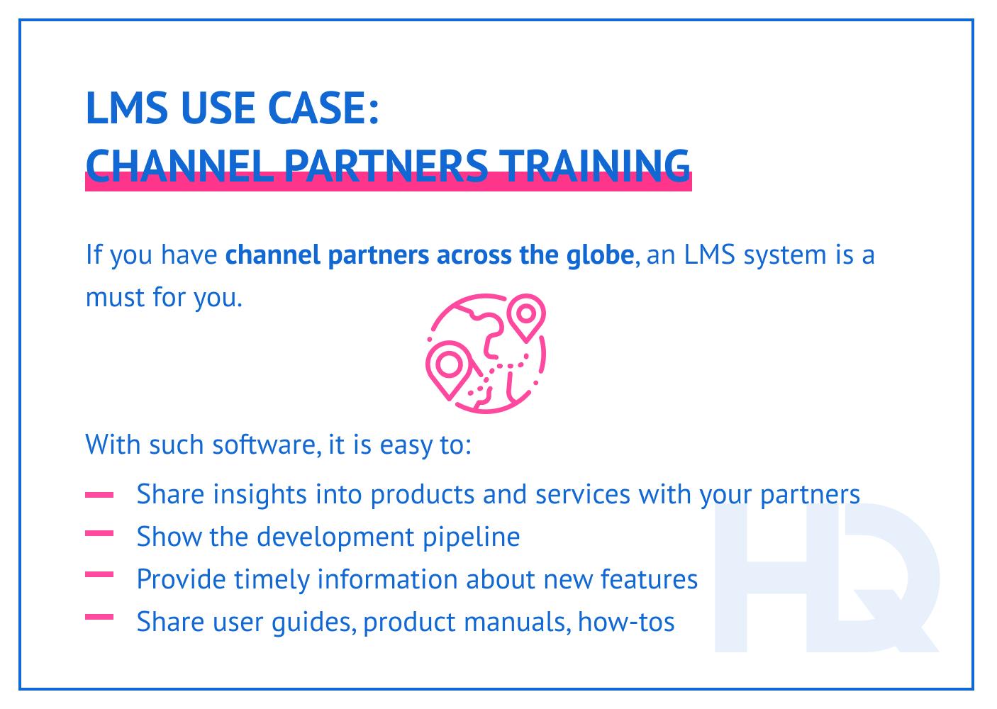 LMS use case: channel partner training