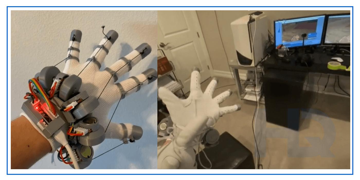 Lucid VR budget haptic glove.