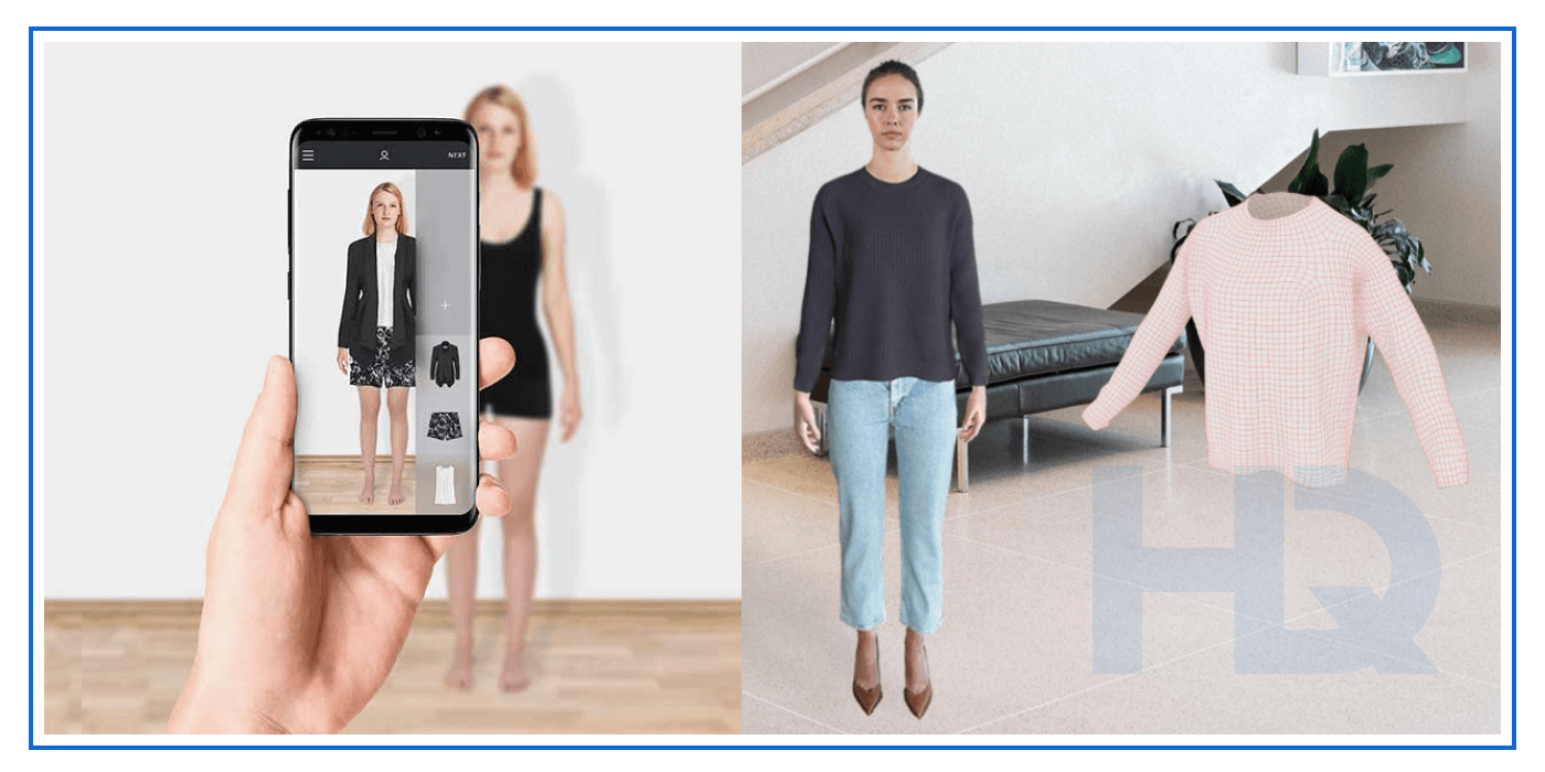 PICTOFiT Virtual Reality fitting room.
