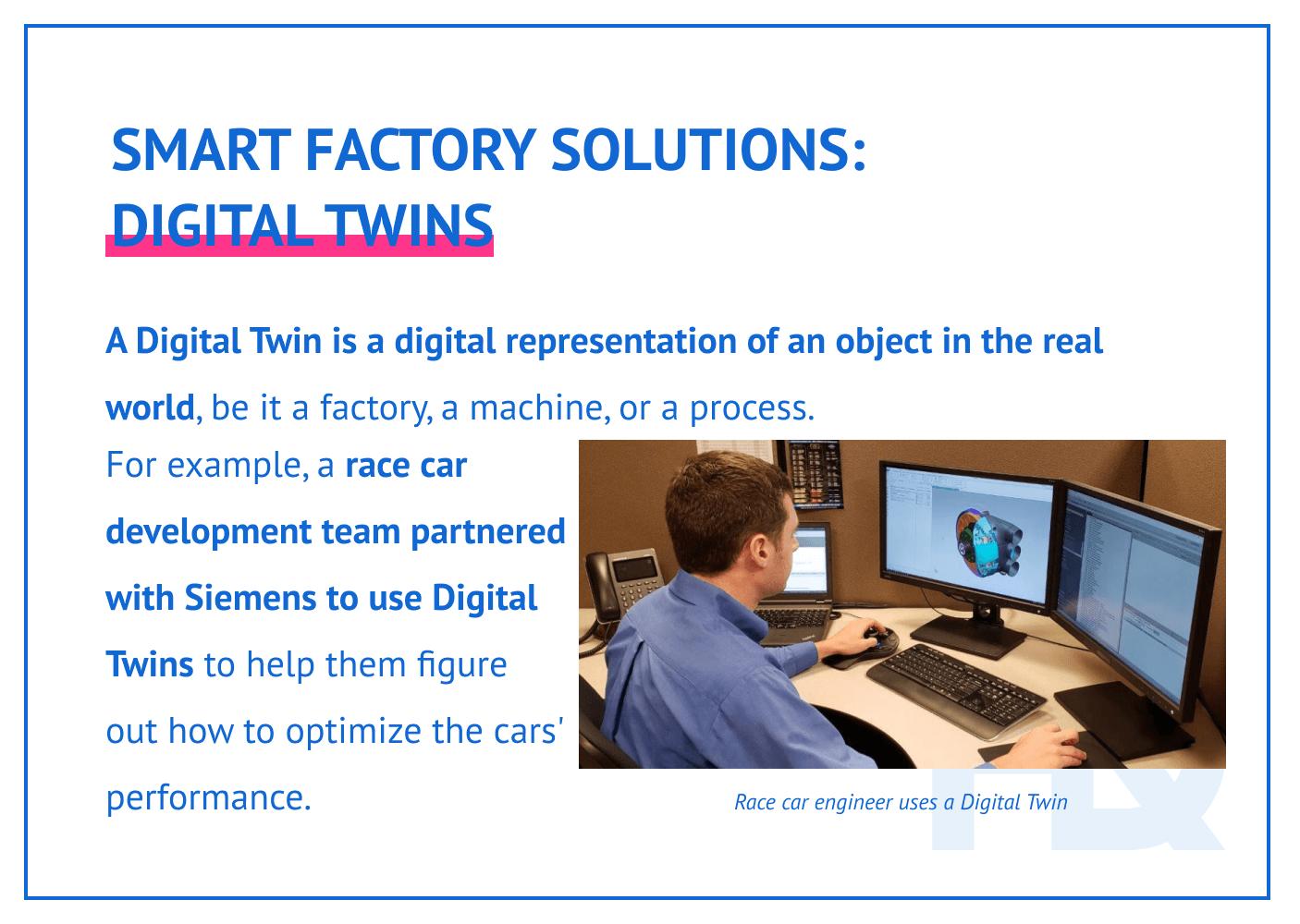 Smart factory solutions: Digital Twins.
