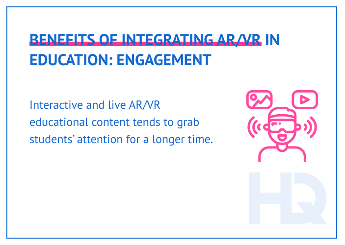 AR/VR technology helps to improve students' engagement