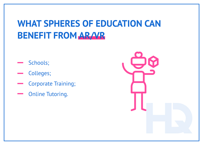 Applications of AR/VR in education