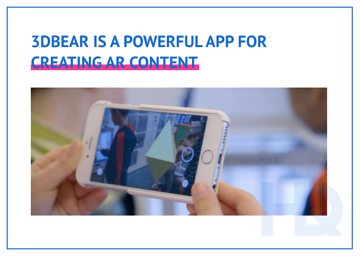 App fro creating AR educational content