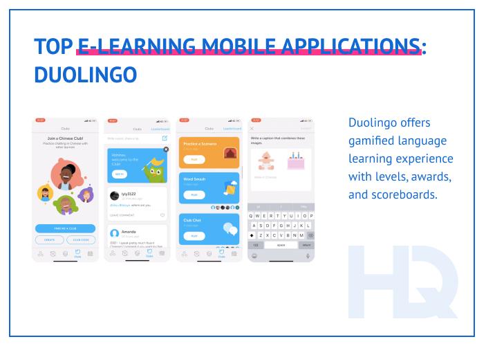 Top e-learning mobile apps: Duolingo