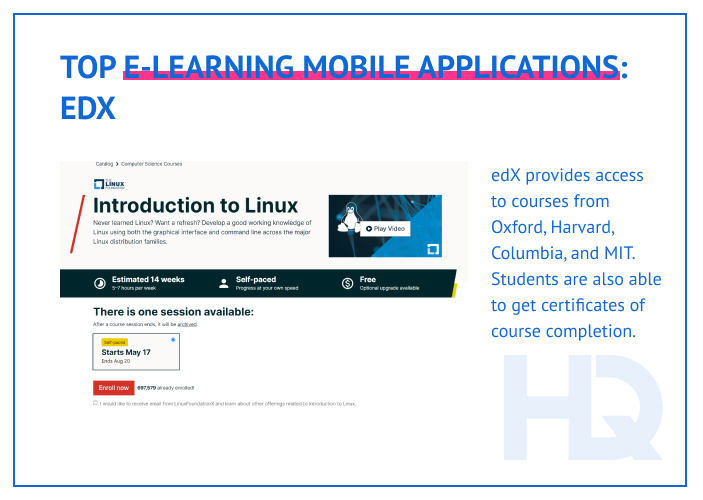 Top e-learning mobile apps: edX