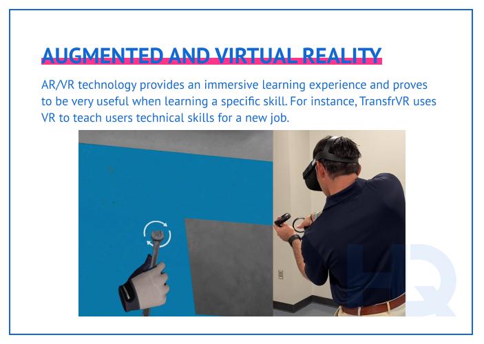 AR/VR technology enhances the virtual classroom experience