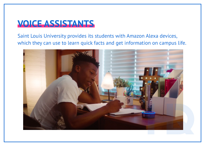 Voice assistants as a part of virtual classroom