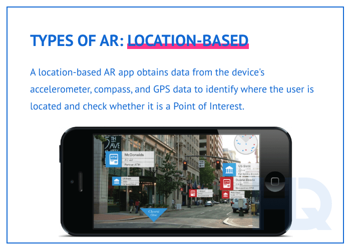 Types of AR: location-based
