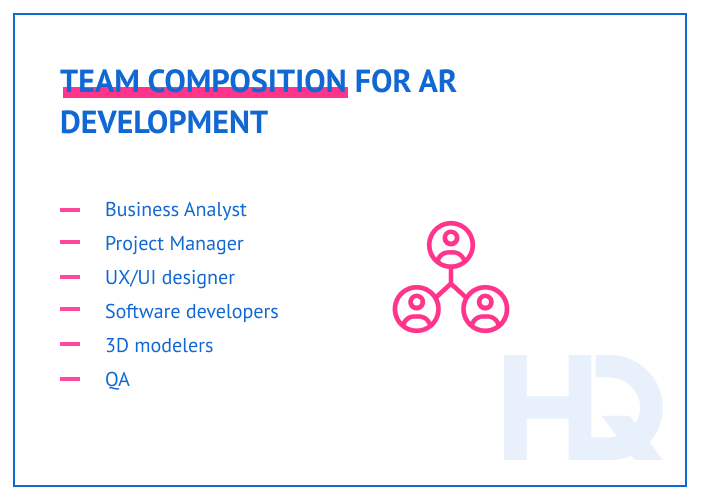 Team composition for AR development