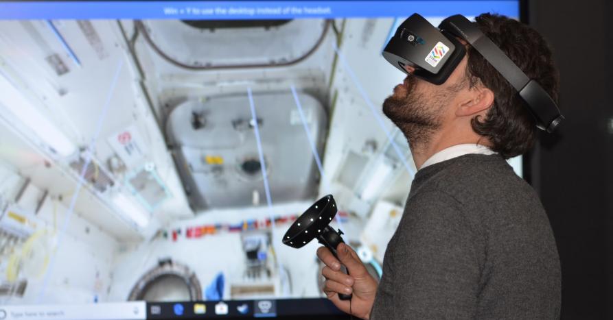 VR training simulation