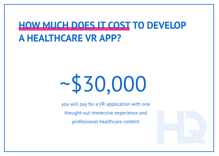 Cost to develop a VR healthcare app