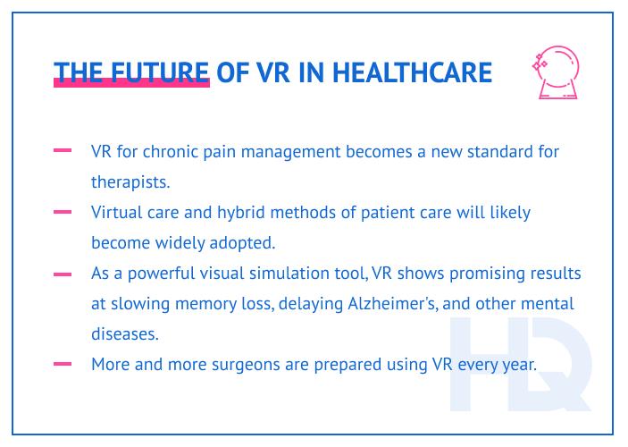 Future trends in healthcare VR