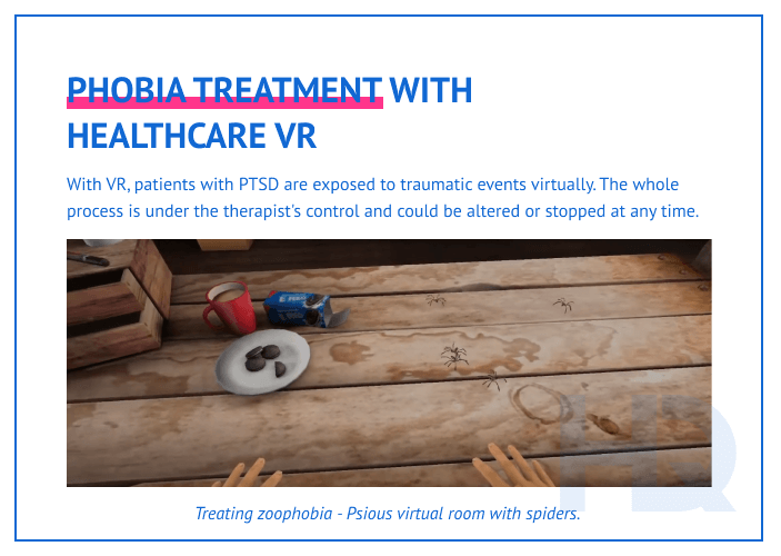 Healhtcare VR for mental illness treatment