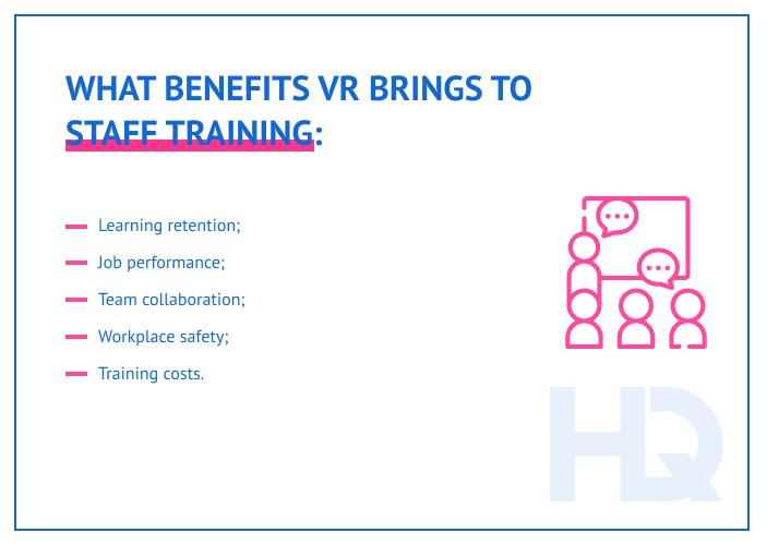 Benefits of VR training