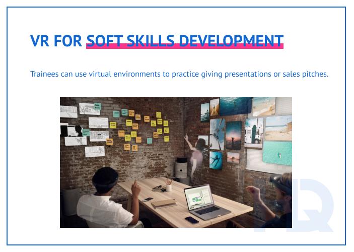 VR for soft skills development