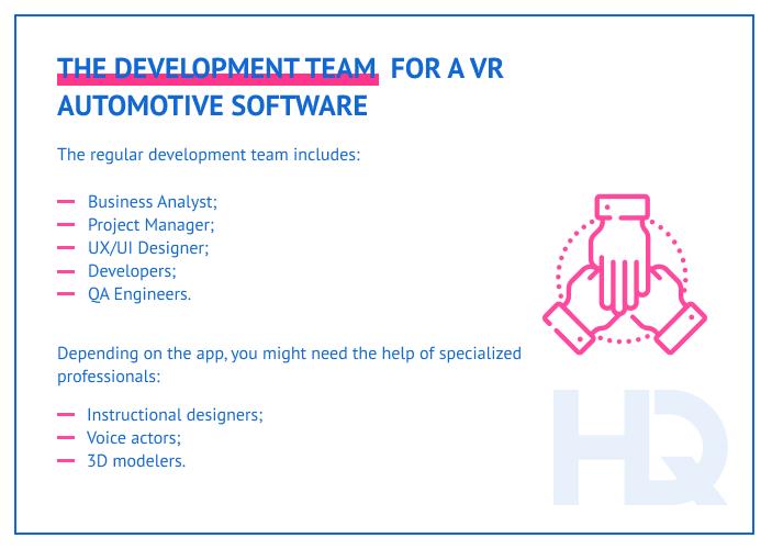 VR software development team