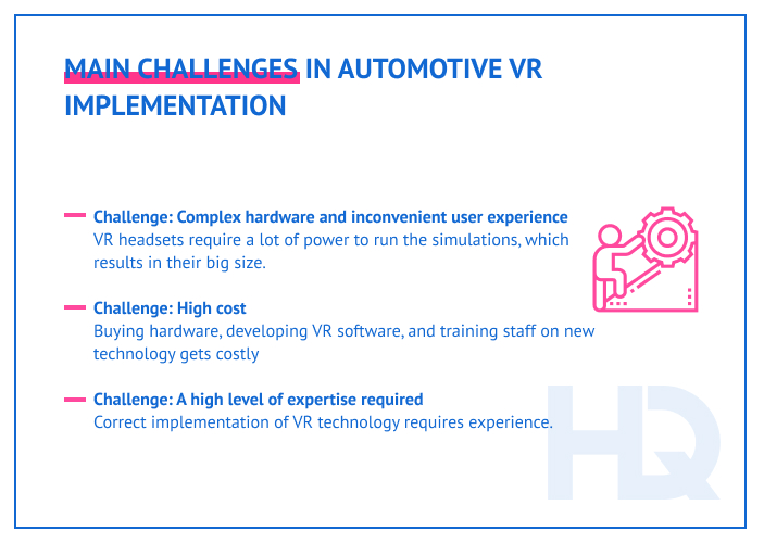 Challenges of applying VR to automotive industry