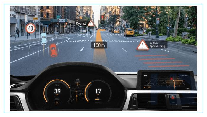 MEMS scanner for automotive AR