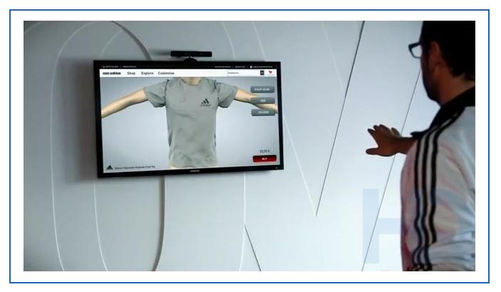 Adidas virtual dressing room experience