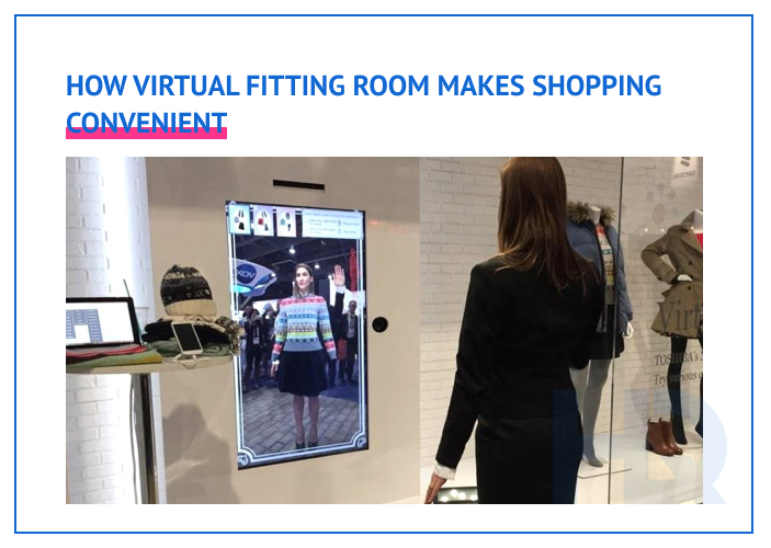 VR fitting rooms make shopping more convenient